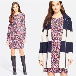 TORY BURCH $425 Nordstrom Red Blue Floral Dress M